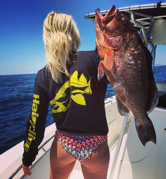 """97 Likes, 1 Comments - Halocline (@halocline_fishing) on Instagram: """"Nothing like a beautiful day on the water catching fish! The lovely Mrs quirk........ #fish…"""""""