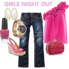 fun pink girls night out! by melissagarsia