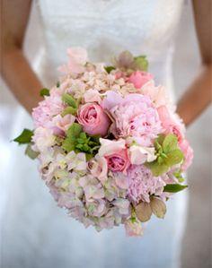 hydrangea, rose, sweet pea & peony bouquet
