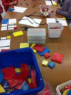 Mondrian - square and rectangle practice Piet Mondrian, Kindergarten Art, Preschool Crafts, Artists For Kids, Art For Kids, Ecole Art, Math Projects, Fantasy Kunst, Anime Kunst
