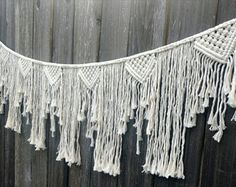 Large Macrame Banner Wall Hanging
