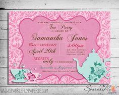 Tea Party Bridal Shower / Baby Shower / Birthday Invitation (Custom DIY Printable)