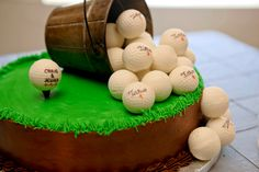 Golf Groom's cake.  K & S Photography.