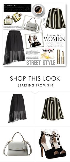 """""""Rosegal date outfit"""" by sabine-rose ❤ liked on Polyvore featuring Garance Doré, Blue, menswear, bomber and rosegal"""