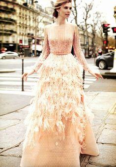 Amparo Bonmati in Elie Saab Haute Couture for Hola! Magazine