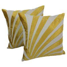 Blazing Needles 20-inch Indian Sun Ray Velvet Applique Throw Pillows (Set of 2) - Overstock™ Shopping - Great Deals on Blazing Needles Throw Pillows