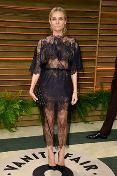 Diane Kruger in Valentino at the Vanity Fair Oscar Party