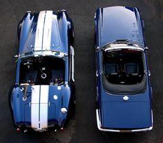 COBRA meets TR6 Triumph Motor, Triumph Tr3, Triumph Sports, Triumph Spitfire, British Sports Cars, Classic Sports Cars, Classic Cars, 1965 Shelby Cobra, 427 Cobra