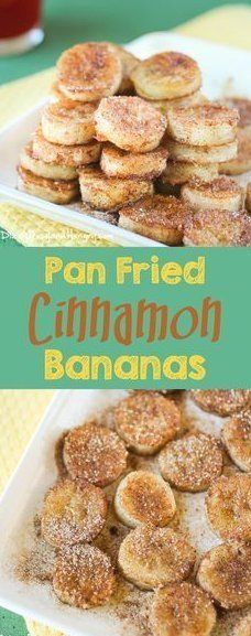 Pan Fried Cinnamon Bananas - Quick and easy recipe for overripe bananas, perfect for a special breakfast or an afternoon snack! Vegan Recipes, Snack Recipes, Dessert Recipes, Recipes Dinner, Vegan Ideas, Easy Recipes, Dessert Ideas, Pancake Recipes, Crowd Recipes