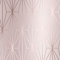 Arna Geo Wallpaper Rose Gold - Wallpaper from I Love Wallpaper UK Gold Wallpaper Pattern, Pink And Gold Wallpaper, Dining Room Wallpaper, Cheap Wallpaper, Metallic Wallpaper, Geometric Wallpaper, Vinyl Wallpaper, Home Wallpaper, Bedroom Wallpaper