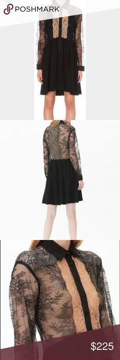 Brand New: Leda Sandro Lace Dress GORGEOUS! Brand new, with tags! Lace upper, black bottom. Sandro Dresses