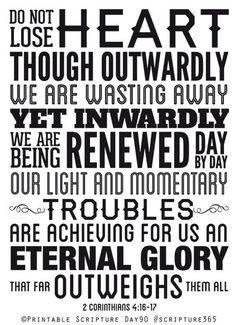 2 Corinthians 4:16-17 #Christian #BibleVerse: