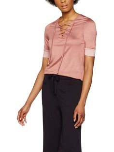 FIND Women's Lace-Up Jersey Top: Amazon.co.uk: Clothing