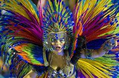"breakingnews: "" Rio de Janeiro celebrates Carnival Photo: Revelers of Portela samba school perform during the Carnival parade at the Sambadrome in Rio de Janeiro, Brazil on Feb. Carnival Parade, Carnival 2015, Brazil Carnival, Carnival Festival, Rio Brazil, Rio Carnival Costumes, Carnival Masks, Carnival Dancers, Mardi Gras"