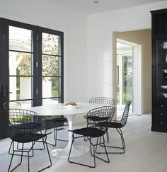 A black-and-white breakfast area in the 2012 Showhome kitchen. Order your tickets here for a chance to win this home: http://www.helpconquercancer.ca/welcomehome/tickets.php  #PrincessMargSweeps | Photographer Michael Graydon | House & Home