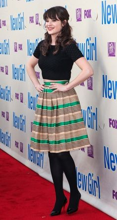 Zooey Deschanel - FOX's 'New Girl' special screening & Q in LA New Girl Outfits, Outfits Otoño, Fashion Outfits, Zooey Deschanel Style, Zoey Deschanel, Jules Supervielle, Estilo Lady Like, Jessica Day, Fox Girl