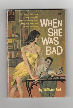 1960s pulp fiction sexy vintage paperback by AnemoneReadsVintage, $64.95