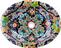 tile mexican_bathroom_sink_. Just beautiful. $95.00 free shipping to the US