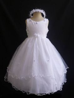 Pink Flower Girls Cotton Seersucker Dress Easter Wedding Party Baby Toddler 738