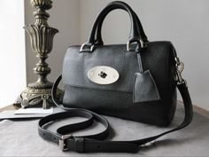 Mulberry Del Rey (Small) in Black Glossy Goat Leather > http://www.npnbags.co.uk/naughtipidginsnestshop/prod_4788462-Mulberry-Del-Rey-Small-in-Black-Glossy-Goat-Leather.html