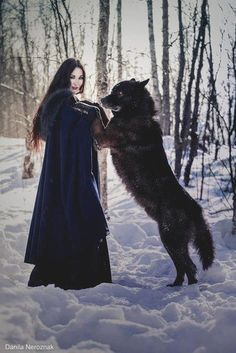 How cool would it be to have a wolf love you ♥ I have a wolf that loves me Wolf Love, Fantasy Photography, Animal Photography, Wildlife Photography, Wolf Hybrid, Wolves And Women, Wolf Pictures, Wolf Spirit, Beautiful Wolves