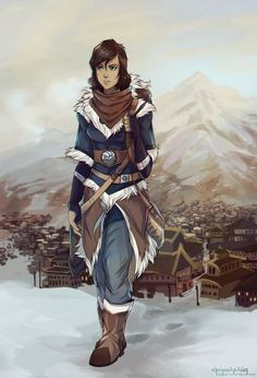 Korra Alone. This is so assassins creed like costume and just awesome