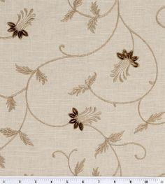 Home Decor Fabrics-Platinum Collection Shelton Flax