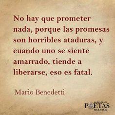No hay que prometer nsda.....