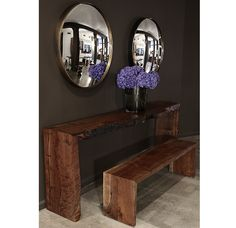 Live edge console table from Hudson Furniture Inc (New York)