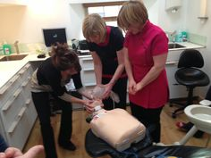 Jane one of our Dental Nurses and Jenny our Practice Manager are in full control of Annie's airway. Visit www.infinitybludental.co.uk to keep up to date with our News.