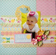 Hello Sunshine *Lifestyle Crafts/QuicKutz/Echo Park* - Scrapbook.com