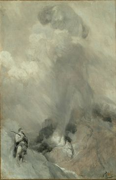 """""""'Who Are You.' Thundered the Giant"""" by Howard Pyle (1900)"""