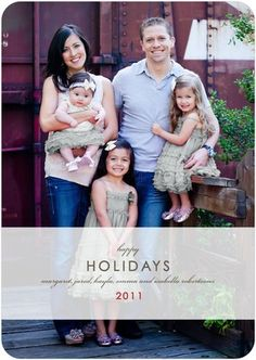 love this christmas card.  Love tiny prints.