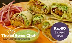 #KickStart your Weekend with tasty #panner #roll Order now from www.thehomechef.in #Foodie #PaneerLovers #OnlinFood #EnjoyFriday  #ComfortFood #TheHomeChefIndia