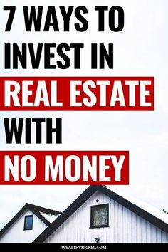 7 ways to invest in real estate with no money! I've successfully used several of these methods to buy rental properties for passive income with no money down. But is it wise to make money in real estate when you're in debt or have no money? Real Estate Business, Real Estate Investor, Real Estate Tips, Real Estate Marketing, Income Property, Investment Property, Investing In Rental Property, Investing In Real Estate, Retirement Investment