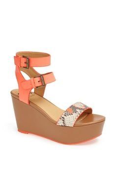 Nice! Will wear this coral and snake print wedge sandal with a pair of chinos.