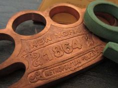 1864 New York Copper Knuckles™ - 100% Solid - EXCLUSIVE! [BKC-1864] - $44.95 : Brass Knuckles Company | Call Toll Free 1-888-604-2296