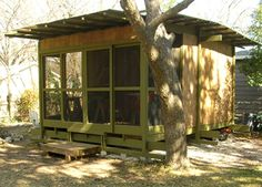 shed w/ a screened in front porch!