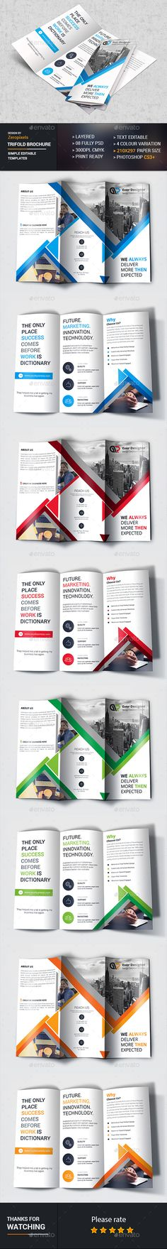 Corporate Trifold Brochure Template PSD. Download here: http://graphicriver.net/item/corporate-trifold/16875918?ref=ksioks