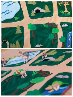 Zoo or Farm playmat with habitats for many animals. - This is awesome!