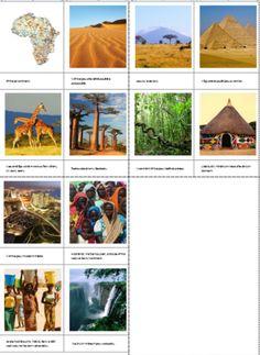 Minikniha s obrázky o tom, co je pro Afriku charakteristické + procvičování porozumění textu
