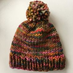 Thank you Piperfor knitting this one skein hat in #malabrigorasta for #mysisterknits perfect #pompom