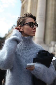 Hairstyles For Christmas 27 Chic Looks für den Rollkragen Herbst Outfit Looks Street Style, Looks Style, Style Me, Look Chic, Mode Inspiration, Mode Style, Who What Wear, Pulls, Autumn Winter Fashion