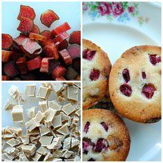 rabarberkage med dulcey, pistacier og rabarber | Anne au Chocolat