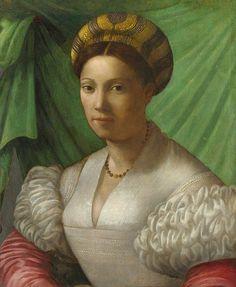 BRONZINO Italian, Florentine painter - Portrait of a Lady (about 1540) #TuscanyAgriturismoGiratola