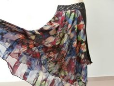 Argentinian Tango & Salsa  Skirt Size fits US 6 by COCOsDANCEWEAR