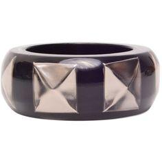 Silver stud resin bracelet | Nicholas King