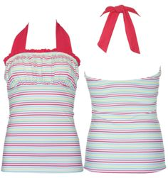 Ruched Square Halter MultiStripe - S-XL Available