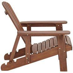 Fletcher Adjustable Back Dark Natural Adirondack Chair