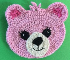 Today I've got a crochet teddy bear pattern for you. This is what the teddy bear will look like.Get this free crochet teddy bear pattern and video tutorial at Kerri's Crochet. Learn how to make a cute teddy bear for gifts and decorations. Crochet Applique Patterns Free, Crochet Teddy Bear Pattern, Crochet Blanket Patterns, Crochet Motif, Crochet Appliques, Free Pattern, Crochet Fabric, Crochet Eyes, Crochet Unicorn